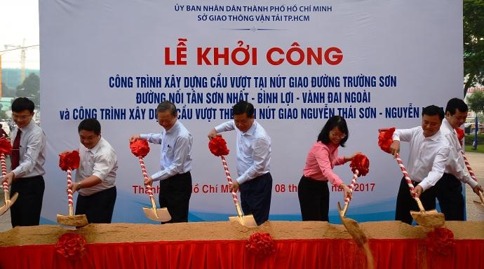 Khởi công xây dựng cầu vượt nút giao đường Trường Sơn, Nguyễn Thái Sơn