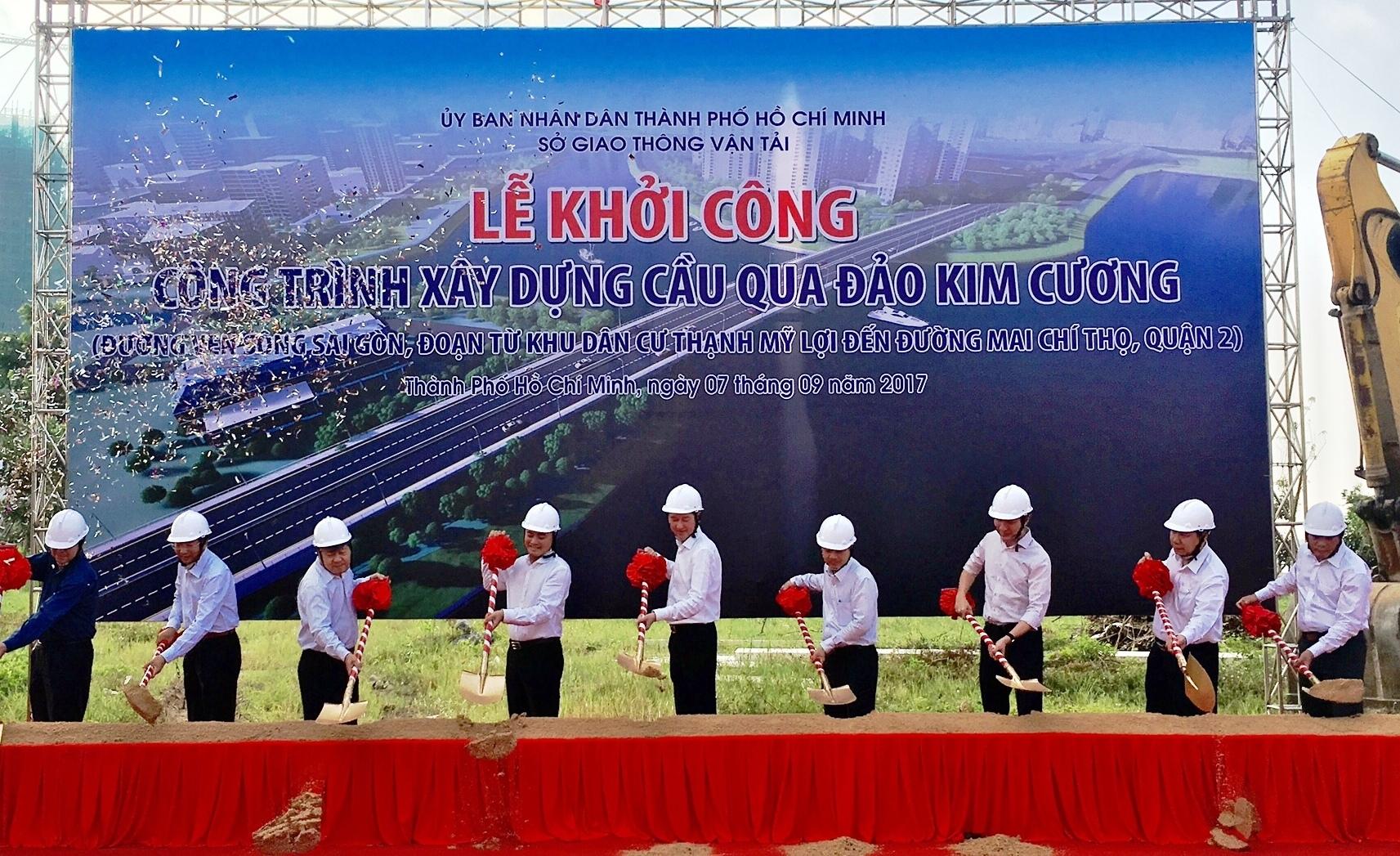 TP.HCM: Khởi công xây cầu 500 tỷ qua đảo Kim Cương